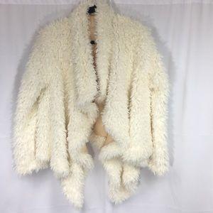Free People Faux Fur Swing Coat